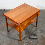 Borge Mogensen Soborg Mobler Danish Teak Flip Top Side Table