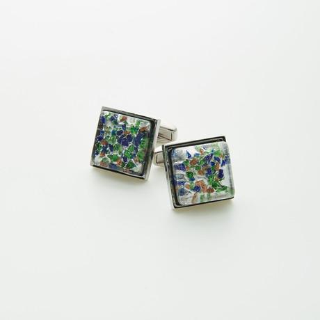 Hart Schaffner Marx // Hand Crafted Glass Cufflinks // Multi
