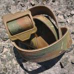 Ricci Reversible Belt // Coyote + Camouflage