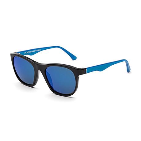 Gara Academic Sunglasses // Blue + Black