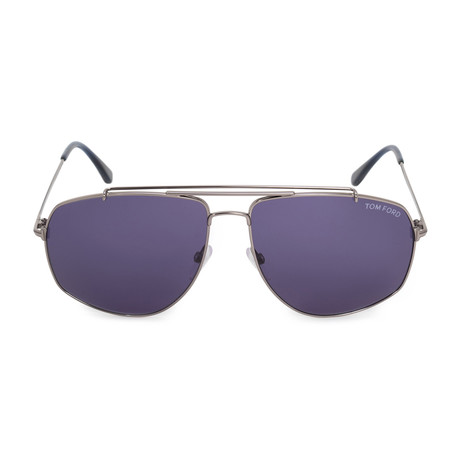 Georges Metal Sunglasses // Gunmetal + Gray