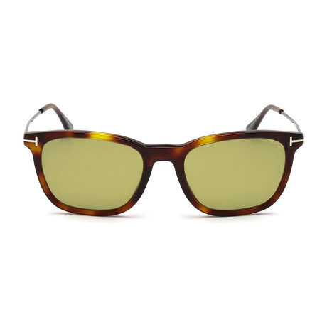 Arnaud Sunglasses // Dark Havana + Green