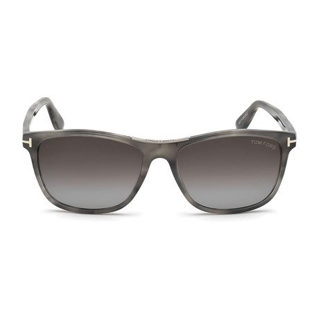 Men's Nicolo Sunglasses // Gray Havana + Smoke Gradient