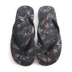 Givenchy // Rottweiler Black Flip Flops // Black (US: 6)