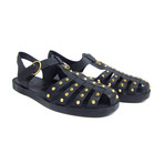 Gucci // Studded Gladiator Rubber Sandals // Green (US: 6)