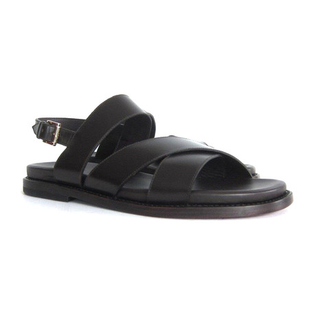 Brioni // Sartorial St Martin Leather Sandal // Brown (US: 6)