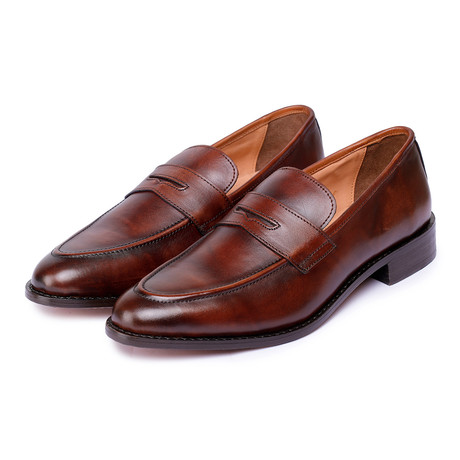 Goodyear Welted Penny Slip On Loafers // Brown (US: 7)