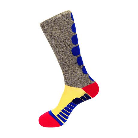Melange Athletic Socks // Yellow Multi