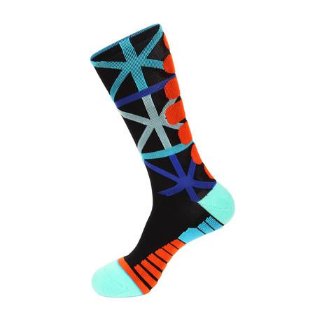 Tower Athletic Socks // Black + Blue