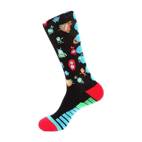 Monster Athletic Socks // Black Multi