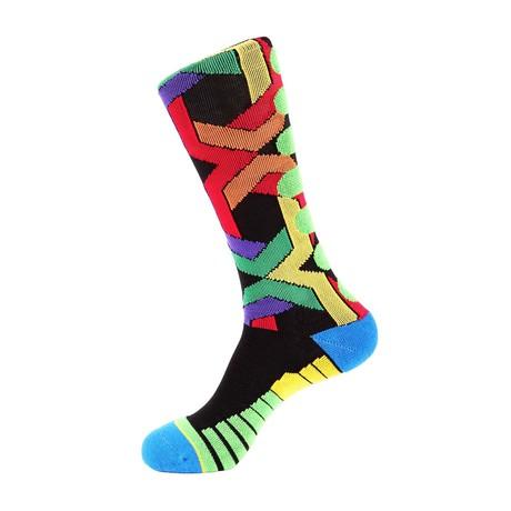 Team Strength Athletic Socks // Black Multi