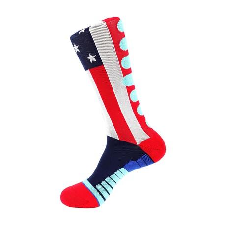 American Flag Athletic Socks // Red + White + Blue