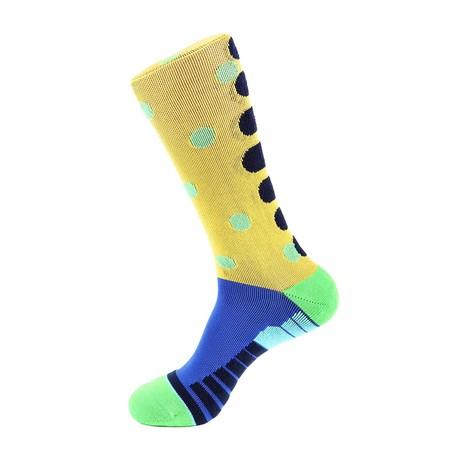 Polka Dot Athletic Socks // Yellow Multi