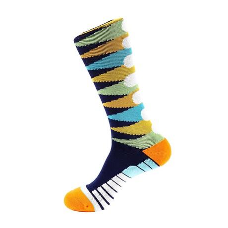 Pennant Athletic Socks // Blue + Orange + White