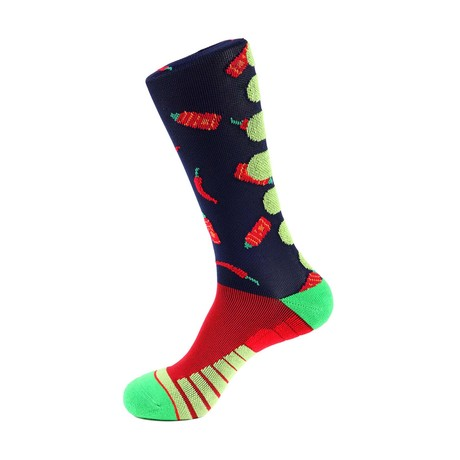 Hot Sauce Athletic Socks // Blue + Red
