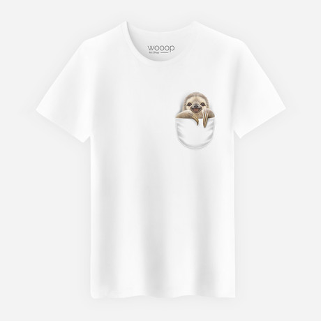 Pocket Sloth // White (S)