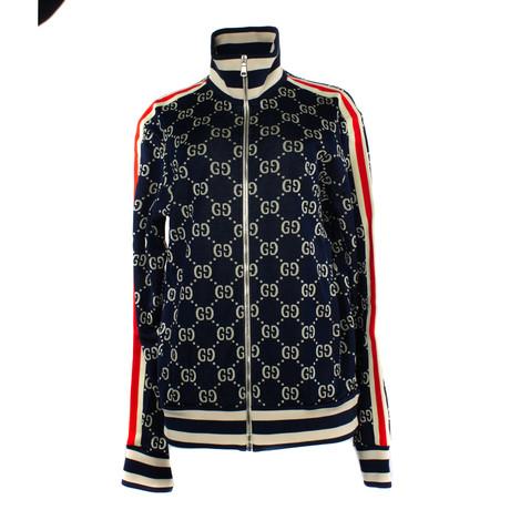 Men's Jacquard Cotton Jacket // Blue (XS)