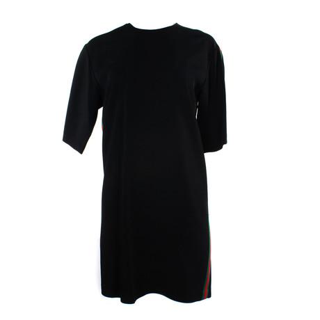 Women's Stretch Viscose Tunic Dress // Black (US: 34)