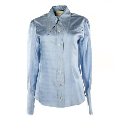 Women's Silk Top // Blue (US: 34)