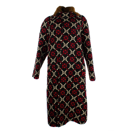 Women's Diamon Caban Coat // Red (US: 34)
