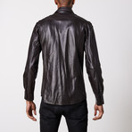 Leather Shirt // Dark Brown (M)