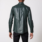 Leather Shirt // Green (L)