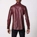 Leather Shirt // Wine (XL)