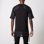 Linen Cotton Henley T-Shirt // Black (2XL)