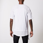 Linen Cotton Henley T-Shirt // White (XL)