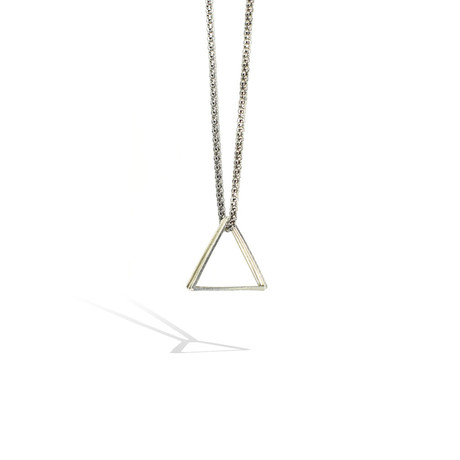 3-Triangle Necklace // Silver