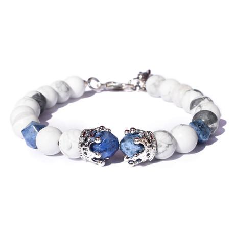 Adjustable Crown Bracelet // Silver