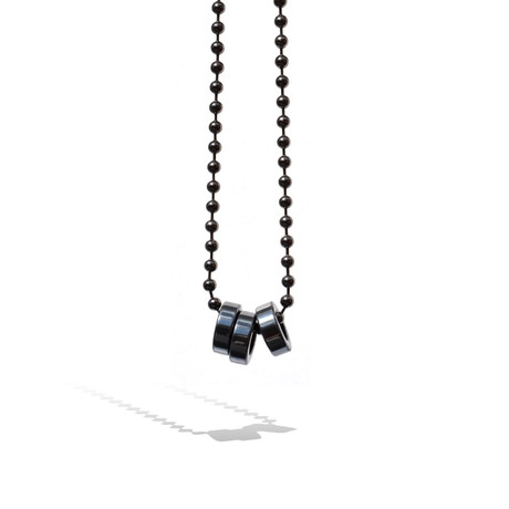 3-Rings Necklace // Gunmetal