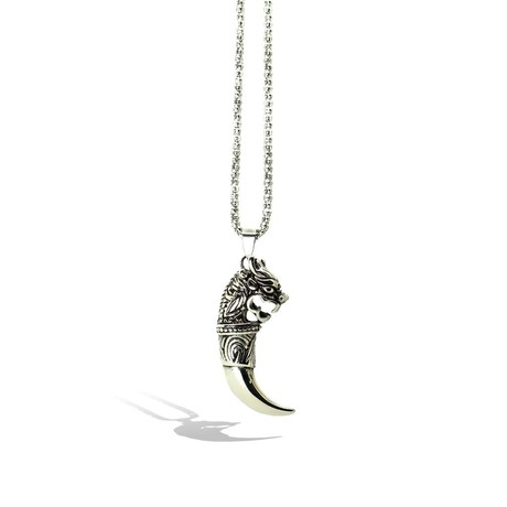 Dragon Horn Necklace // Silver