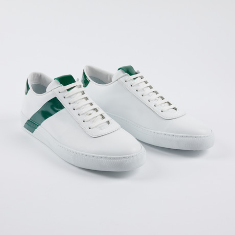 Leather Court Sneakers // White Green (Euro: 39)