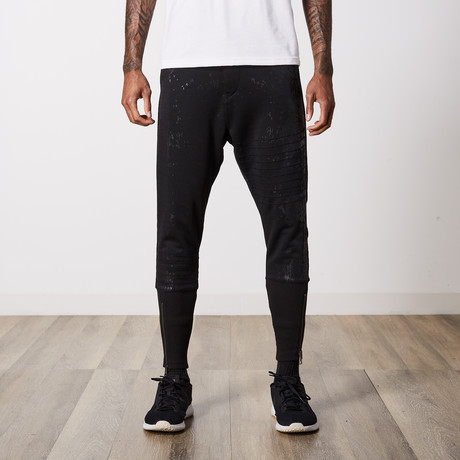 Contemporary Zippered Jogger // Black (29WX32L)