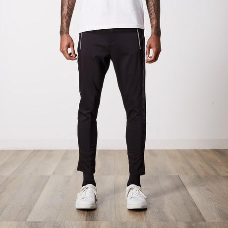 Premium Cotton Zippered Trouser // Black (29WX32L)