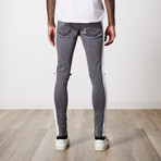 Rip And Repair Premium Cotton Denim // Dark Gray (31WX32L)