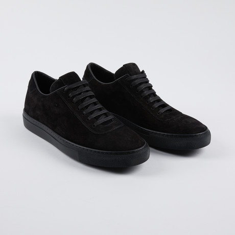 Leather Court Sneakers // Black Suede (Euro: 39)