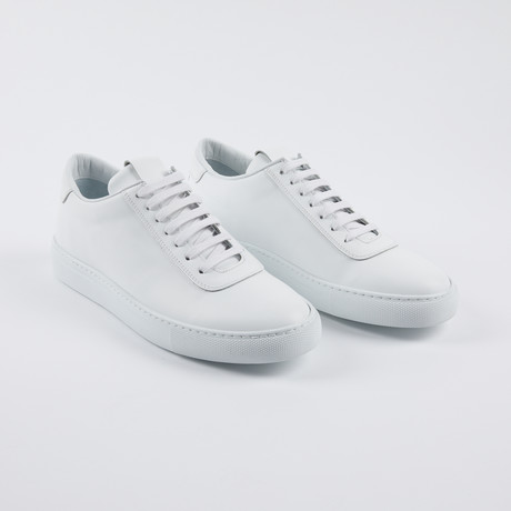 Striped Court Sneakers // White (Euro: 39)