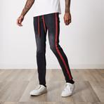 Side Striped Premium Cotton Denim // Black (29WX32L)
