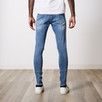 Ripped Premium Cotton Denim // Ice Blue (30WX32L)