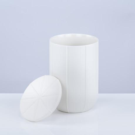 Pleat Container L (White)