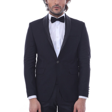 Aaron Slim Fit 2-Piece Tuxedo // Black (Euro: 44)