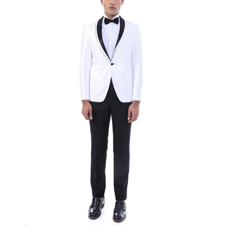 Ellis Slim Fit 2-Piece Tuxedo // Cream (Euro: 44)