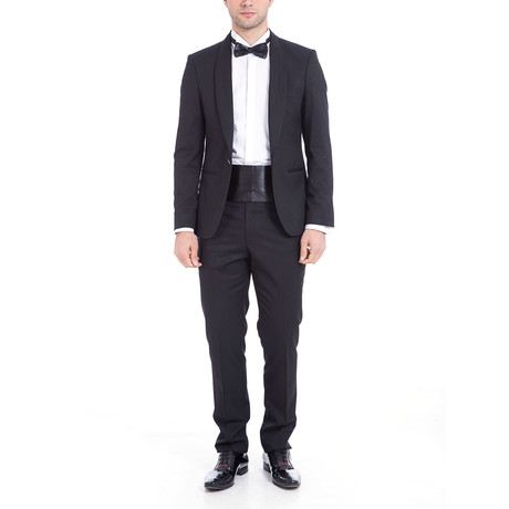 Lance Slim Fit 2-Piece Tuxedo // Black (Euro: 44)
