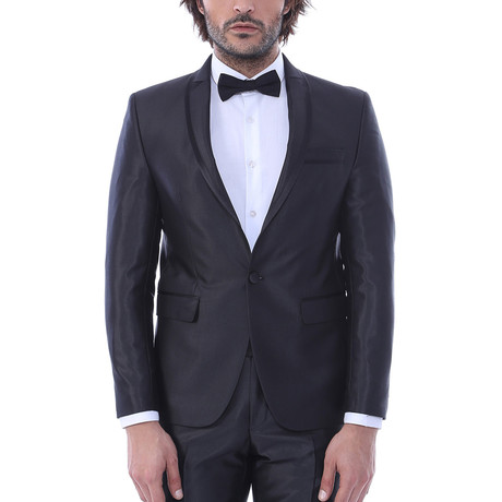Kristopher Slim Fit 2-Piece Tuxedo // Black (Euro: 44)