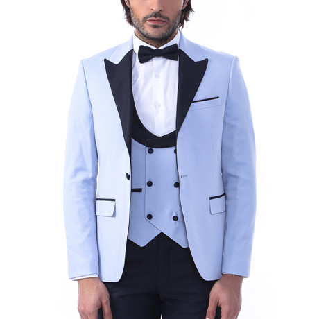 Blaze Slim Fit 3-Piece Tuxedo // Light Blue (Euro: 44)