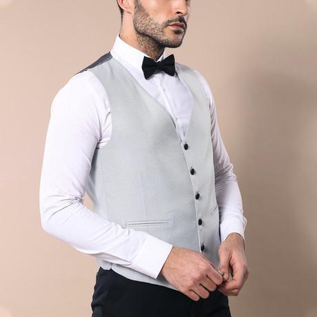 Rex Slim Fit 3-Piece Tuxedo // Gray (Euro: 46)