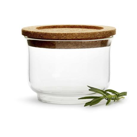 Nature Glass Jar + Cork Lid (Small)