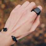 Ferus Bangle Bracelet // Matte Black (55mm Diameter)